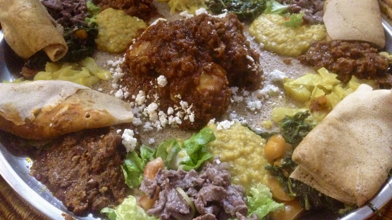 Dive into the excellent traditional benyaynetou at Adey Abeba