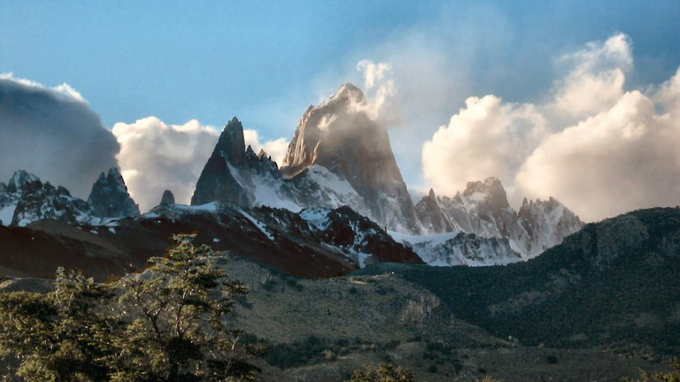Enjoy a meal at Ahonikenk after hiking the Fitz Roy
