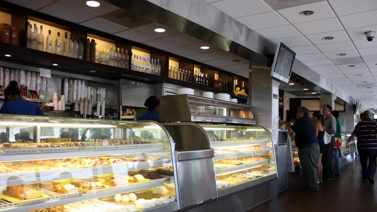 Bakery counter at Kasalta
