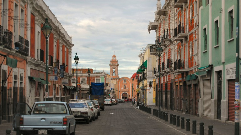 A street view in Puebla