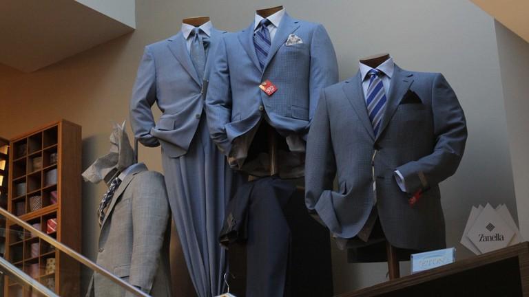 Mens suits display