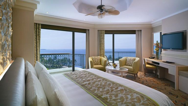 Terrace sea-view room at Shangri-La's Rasa Sentosa Resort & Spa