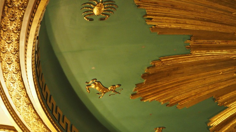 The ceiling of the Masonic temple