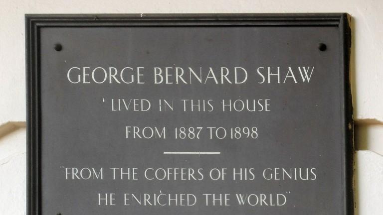 George Bernard Shaw lived here