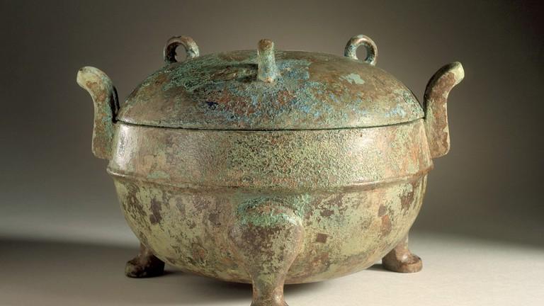 Lidded Food Cauldron from the Han Dynasty