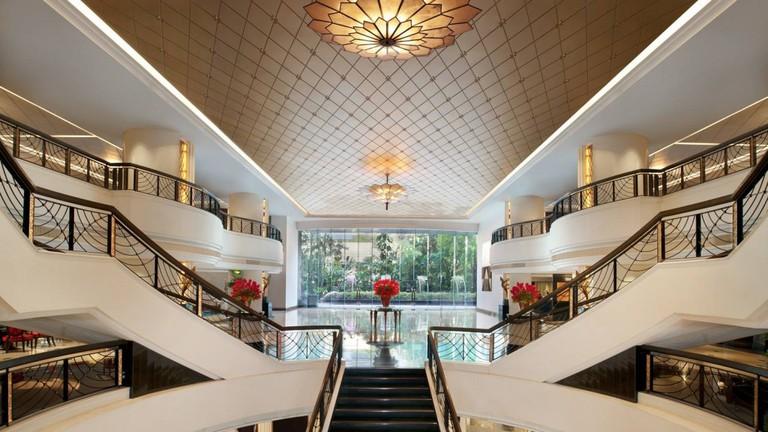 The hotel's sumptuous interiors