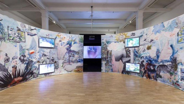 Laure Prouvost, Farfromwords, installation view, Whitechapel Gallery, 2013