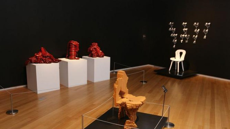 Installation view of Out of Hand: Materialising the Postdigital, Museum of Arts and Design, 2013