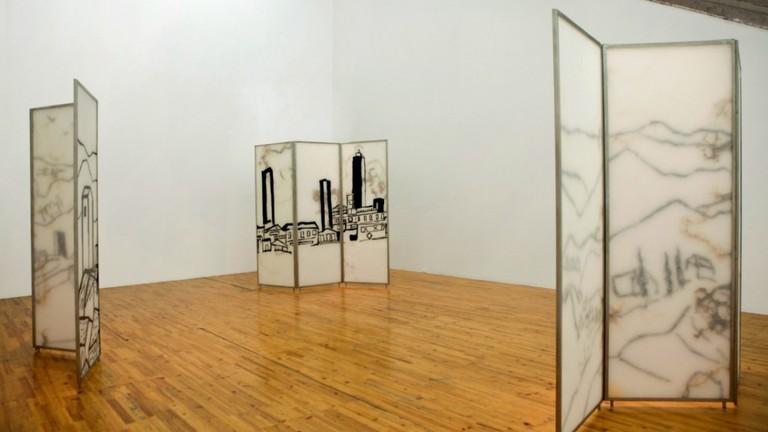Etel Adnan, Exhibition view. Galleria Continua Beijing, 2014