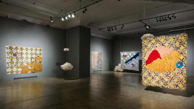 Sanford Biggers, Codex, Installation View, VCUarts Anderson Gallery
