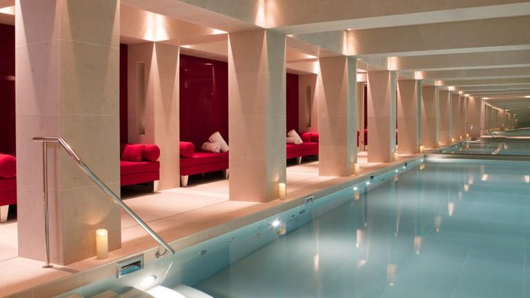 Indoor pool at La Réserve Paris
