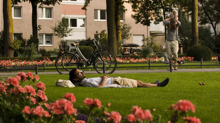 Lazing away in Viktoria Park, a favourite summer pastime in Berlin