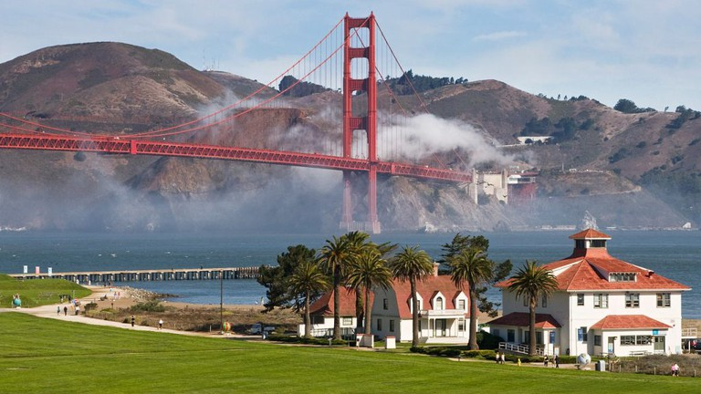 Golden Gate Bridge and Old Coast Guard