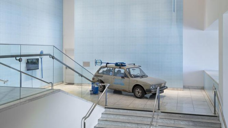 Clarissa Tossin. Brasília, Cars, Pools & Other Modernities, 2009–13 (detail). Made in L.A. 2014. Installation view at the Hammer Museum, Los Angeles. June 15-September 7, 2014.