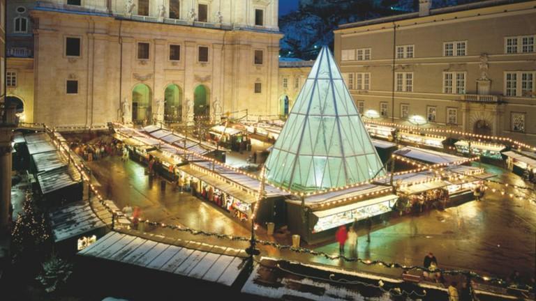 Christmas market in Salzburg winter