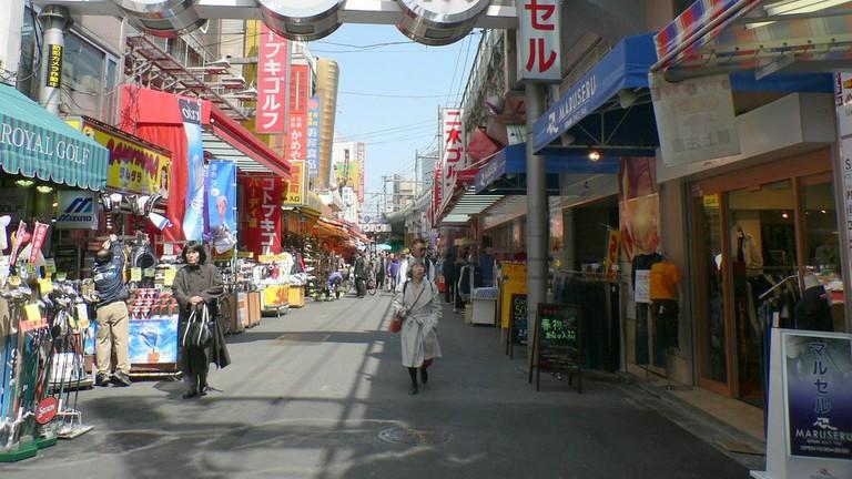 Ameyoko Market in the early morning