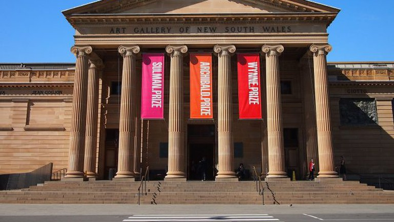 The main entrance to the Art Gallery of NSW