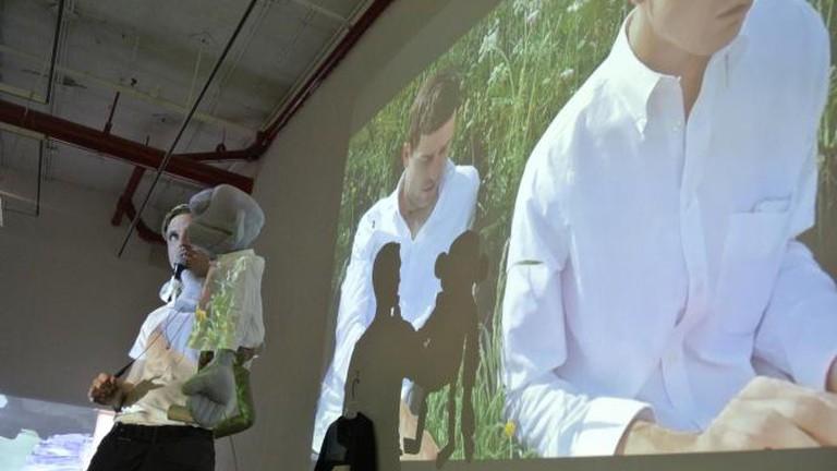 Derek Larson, OTHER AUTHOR, performance documentation, June 27 2014 at NURTUREart Gallery