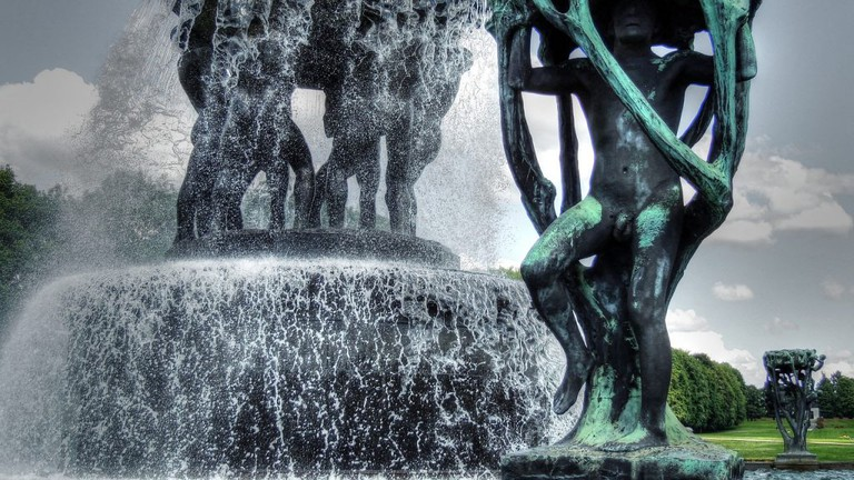 Gustav Vigeland'sThe Fountain(c. 1947), Oslo..., Vigeland Sculpture Park, Oslo