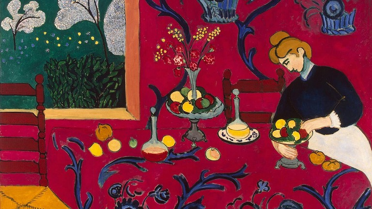 Henri Matisse, The Dessert: Harmony in Red(1908)