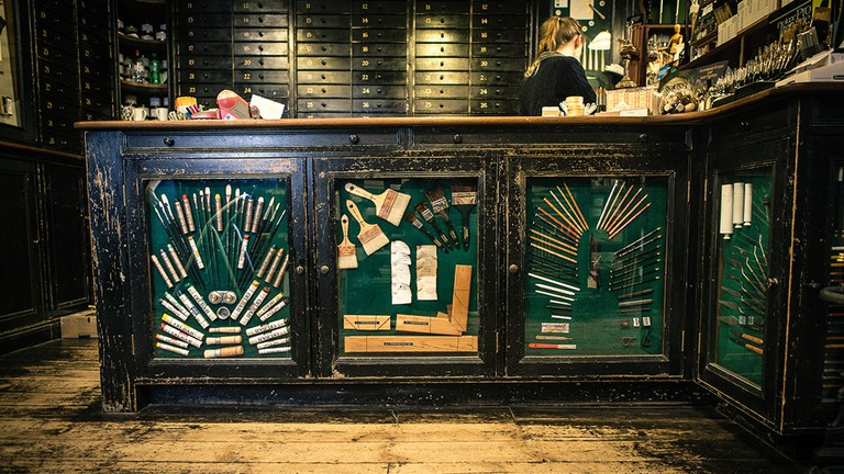 A counter at L. Cornelissen & Son