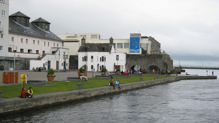 Spanish Arch with Galway City Museum in the background
