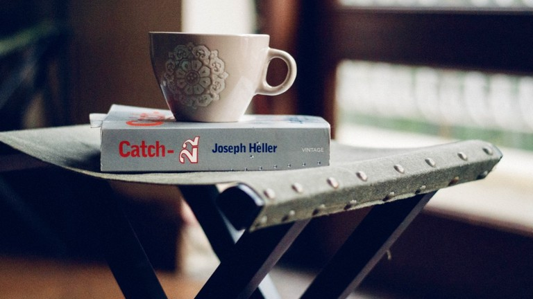 Grab a book while having some coffee