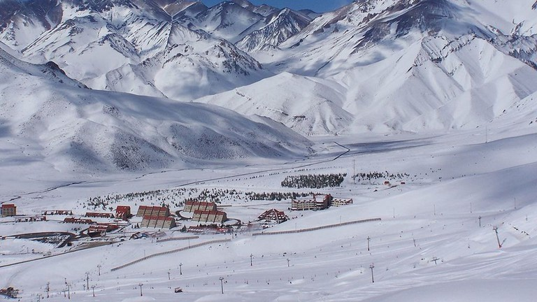 Las Leñas an Andean ski resort, located in the western part of the Mendoza Province, Argentina