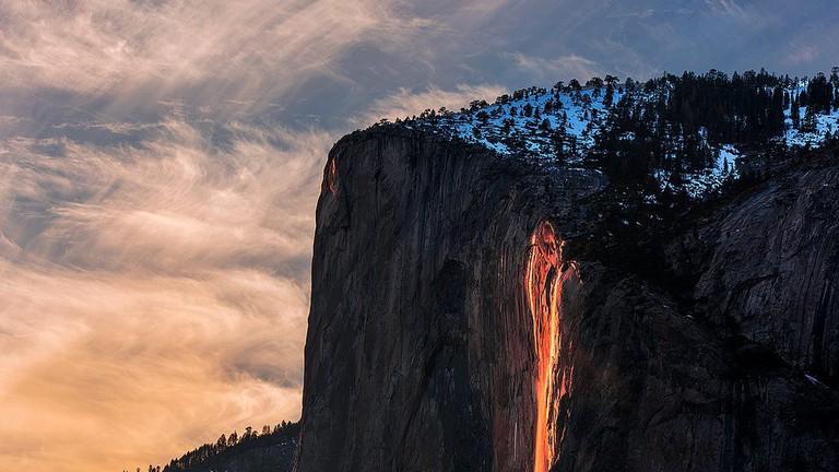 """Horsetail """"firefall"""" 2016"""