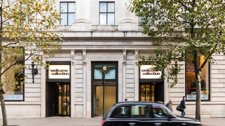The Wellcome Collection building on Euston road, London