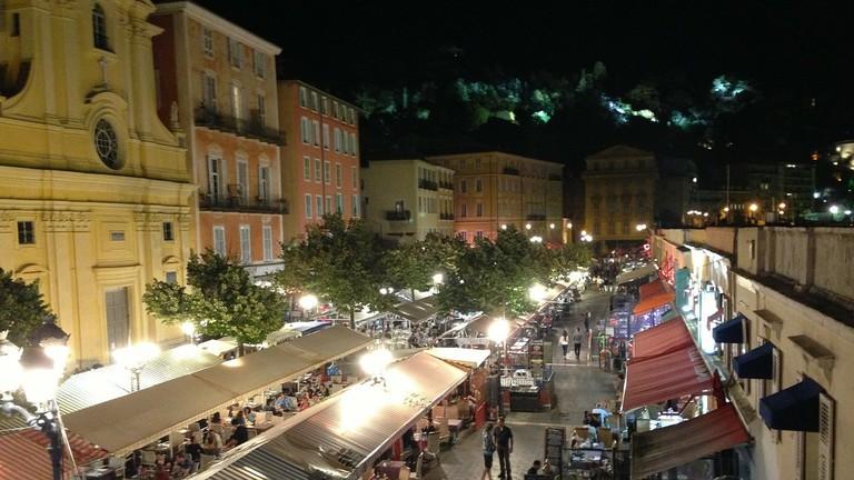 The Marché Saleya in Nice