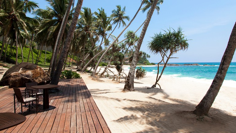 Beach chilling at Amanwella