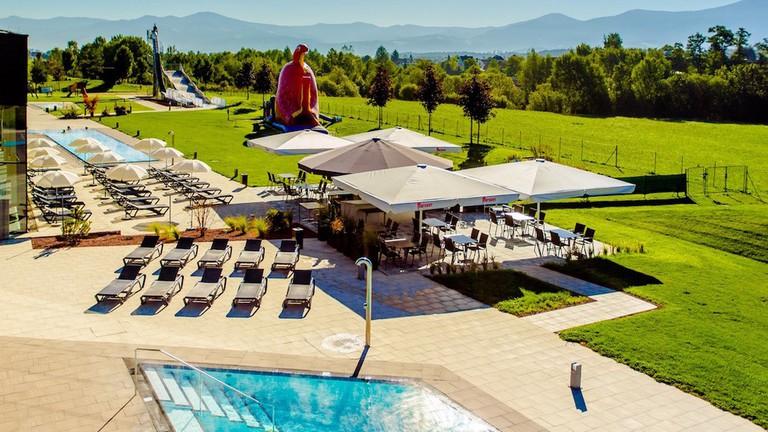 Beautiful scenery surrounding the spa