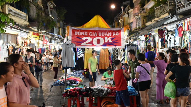 Cheap clothes at the night market