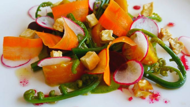 A fresh vegetable side dish at Chef Mavro