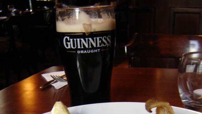 Fish n Chips with a side of Guiness at O'Connell