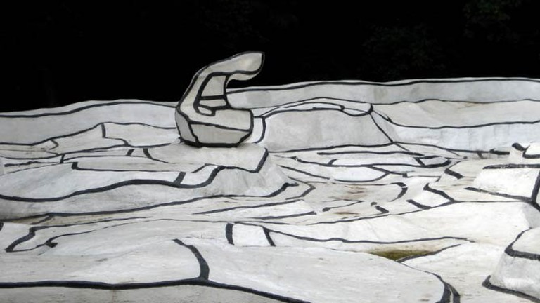 A detail from Jean Dubuffet's work in the Kröller-Müller sculpture Garden
