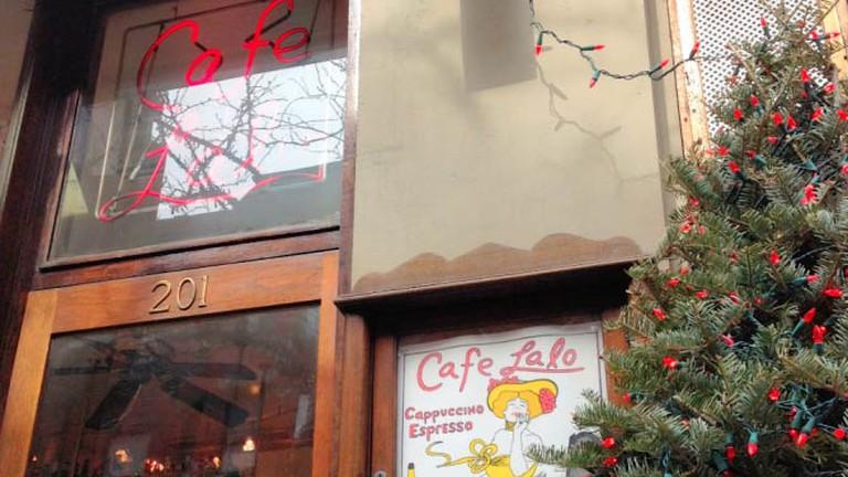 Café Lalo's charming, quirky entrance