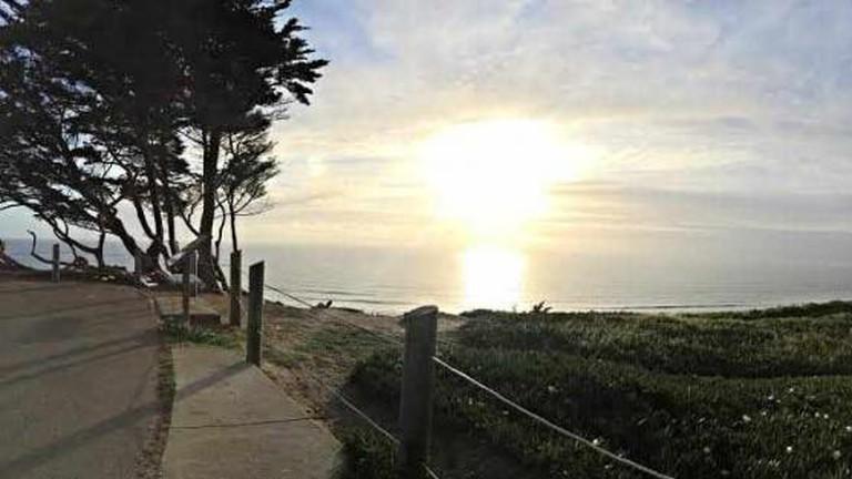 Sunset time at Thornton Beach