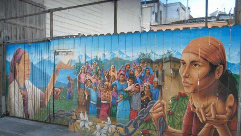 Precita Eyes Mural on Mission in San Fransisco