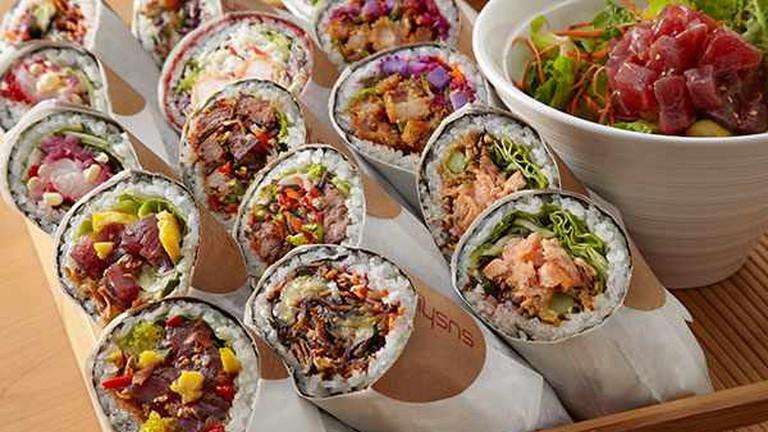 Assorted Sushi Burritos