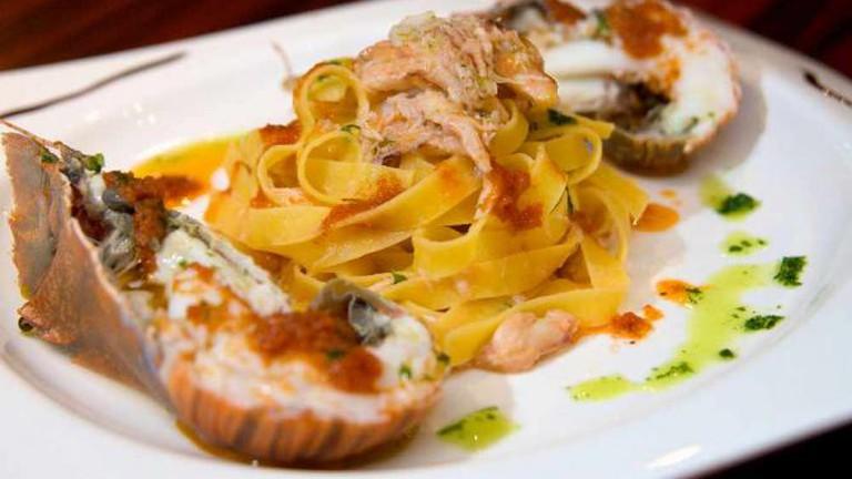 Seafood pasta at Fratini La Trattoria
