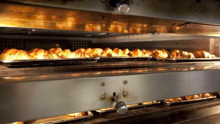 Croissants in the Oven at Tartine Bakery