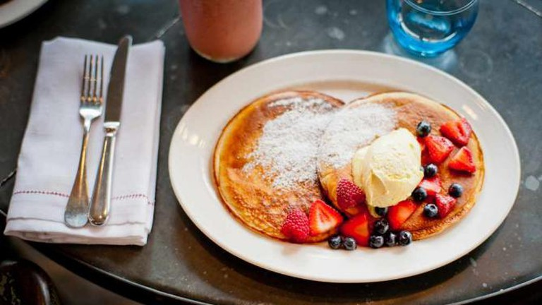 Pancakes at The Riding House Cafe