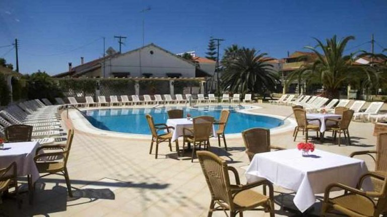 Konstantina Hotel poolside area