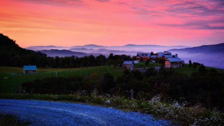 Banner Elk Winery from the upper vineyard