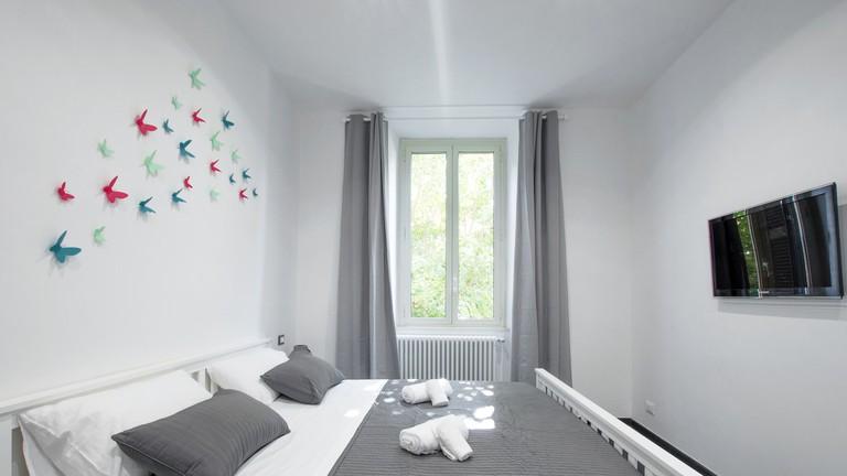 The bedroom at Gazometro Apartment Roma