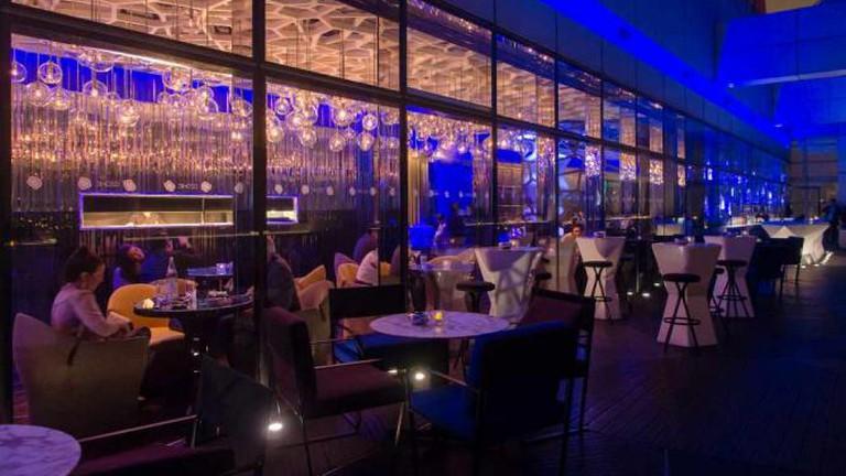 Interior of Ozone bar