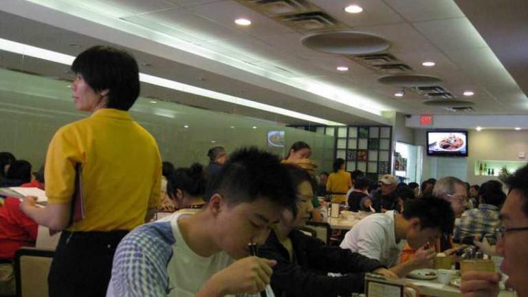 Inside King's Noodle Restaurant