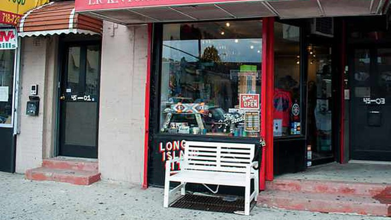 Street view of storefront